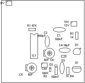 Detector por electroestatioca - PCB