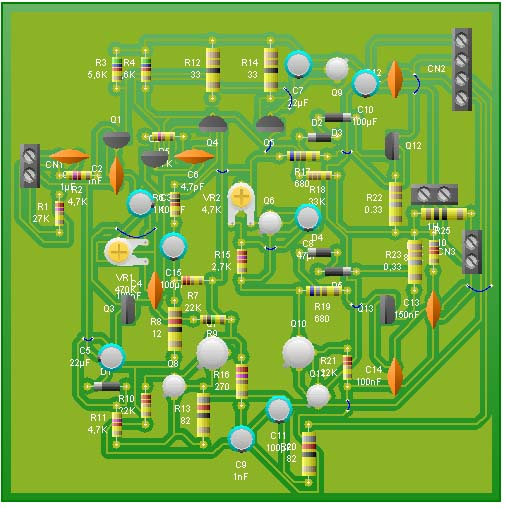 amplificador pcb